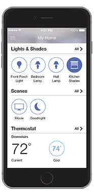 iphone lutron remote interface